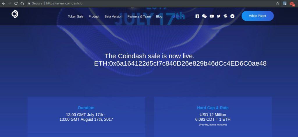 Взлом ICO CoinDash