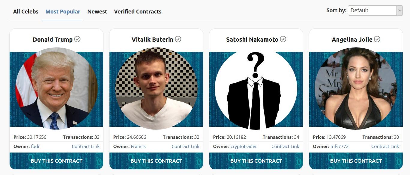 CryptoCelebrities — покупай карточку знаменитости и... все?