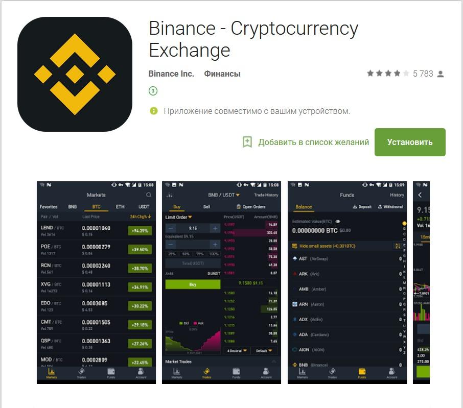 Биржа криптовалют приложение программа для технического анализа для бинарных опционов
