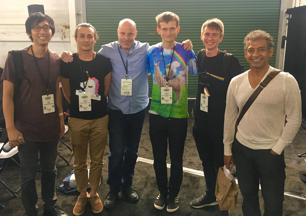 The Ethereum mafia at TechCrunch Disrupt.