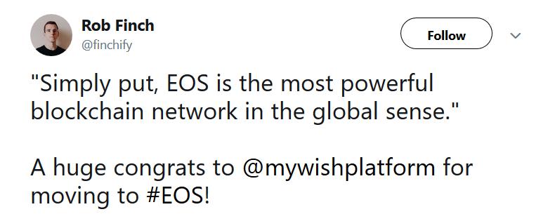 Еще одна платформа ушла с Ethereum на EOS