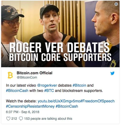Роджер Вер выложил видео спора Bitcoin Core и Cash