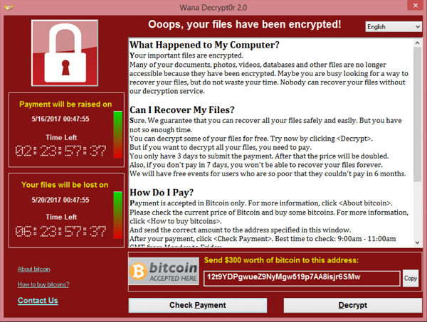 дешифровка WannaCry